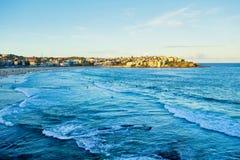 Recente Middag bij Bondi-Strand, Sydney, Australië royalty-vrije stock fotografie