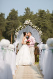 Recentemente casal Imagem de Stock Royalty Free