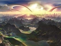 Recentemente mondo di Terraformed royalty illustrazione gratis