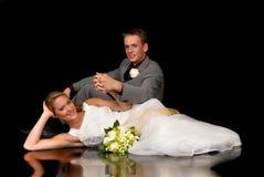 Recentemente wed le coppie Immagini Stock Libere da Diritti