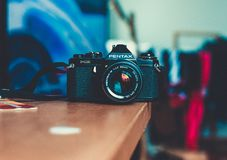 My old film camera Pentax. Royalty Free Stock Photography