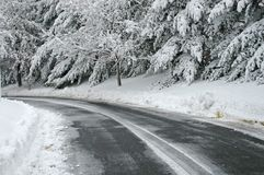 Recently Plowed Street After S Stock Photography