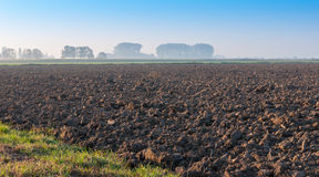 Large field of bald farmland ready for the next cultivation Stock Image