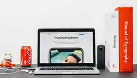 Recentste iPhone X 10 met Stock Foto
