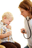 Receoso do pediatrist foto de stock royalty free