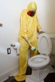 Receoso do toalete da esteira de Haz Imagem de Stock