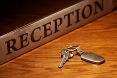 Recepção & chave Fotografia de Stock