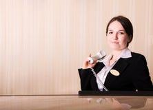 Recepção do hotel Imagens de Stock