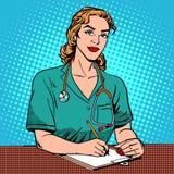 Recepção do interno no hospital ilustração stock