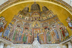 Recepção do mosaico do corpo do ` s de St Mark, Veneza foto de stock