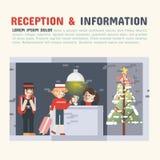 Recepção e informação Fotografia de Stock Royalty Free
