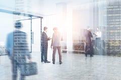 Recepção preta e sala de reunião, dobro Imagem de Stock Royalty Free