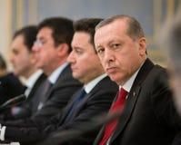 土耳其总统Recep Tayyip埃尔多安 免版税图库摄影