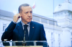 Recep Tayyip Erdogan Fotografia Royalty Free