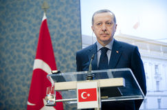 Recep Tayyip Erdogan royalty free stock photos