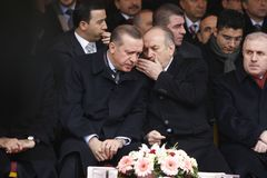Recep Tayyip Erdogan and Kadir Topb Royalty Free Stock Photo