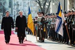 Recep Tayyip Erdogan och Petro Poroshenko Royaltyfria Foton