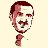 Recep Tayyip Erdogan portrait royalty free stock photography