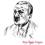 Recep Tayyip Erdogan, President of Turkey since 2014, Prime Minister 2003 - 2014, Justice and Development Party AKP Royalty Free Stock Images