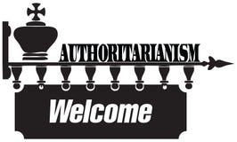 Recepción al autoritarismo ilustración del vector