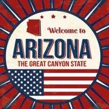 Recepción al cartel del grunge del vintage de Arizona ilustración del vector
