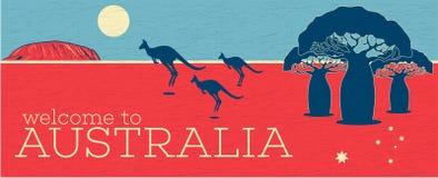 Recepción al cartel del vintage de Australia libre illustration
