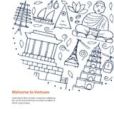 Recepción al concepto de diseño de Vietnam Fotos de archivo libres de regalías