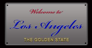 Recepción al ejemplo de la placa de Los Ángeles libre illustration