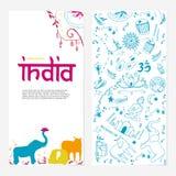 Recepción al folleto de la India imagen de archivo libre de regalías