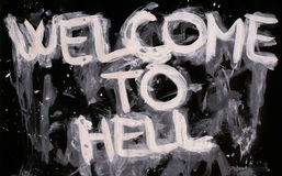 Recepción al infierno Fotografía de archivo libre de regalías