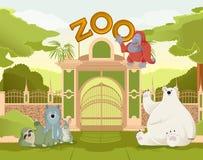 Recepción al parque zoológico libre illustration