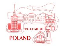 Recepción al rojo de Polonia Imagen de archivo