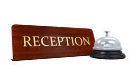 Recepción Bell y placa de la recepción Fotos de archivo