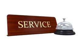 Recepción Bell y placa del servicio Fotografía de archivo