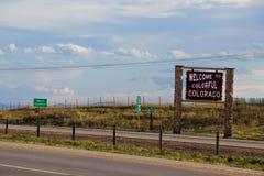 Recepción a Colorado colorido imagenes de archivo