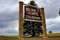 Recepción a Colorado colorido fotografía de archivo libre de regalías