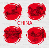 Recepción de China libre illustration