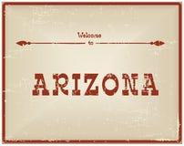 Recepción de la tarjeta del vintage a Arizona libre illustration