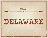 Recepción de la tarjeta del vintage a Delaware ilustración del vector
