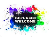 Recepción de los refugiados Imágenes de archivo libres de regalías