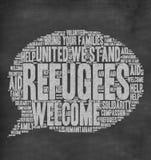 Recepción de los refugiados Fotos de archivo