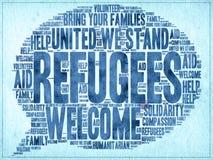 Recepción de los refugiados Fotografía de archivo libre de regalías