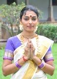 Recepción de Namaste Imagen de archivo libre de regalías