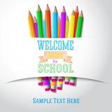 Recepción de nuevo al saludo a mano de la escuela con Fotos de archivo