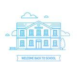 Recepción de nuevo a bandera de escuela Fotografía de archivo libre de regalías