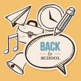 Recepción de nuevo a escuela Foto de archivo libre de regalías