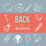 Recepción de nuevo a escuela Fotos de archivo libres de regalías