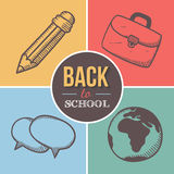 Recepción de nuevo a escuela Fotografía de archivo libre de regalías