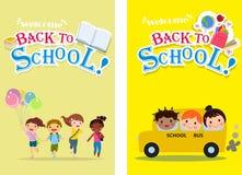 Recepción de nuevo a escuela stock de ilustración