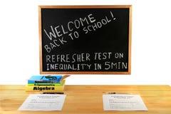 Recepción de nuevo a la escuela - clase de la matemáticas Foto de archivo libre de regalías